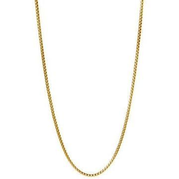 18kt Gold-Plated Sterling Silver 1.8mm Round Box Chain Men's Necklace, 22