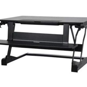 Ergotron WorkFit-TLE - Standing desk converter - rectangular - black