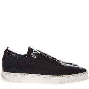 Salvatore Ferragamo Aaron Black Leather Sneakers