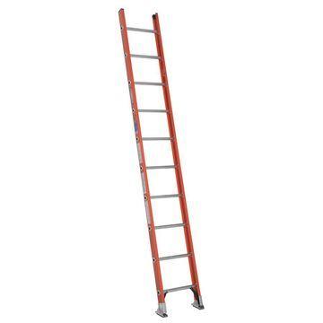 Werner D6200-1 Fiberglass 10-ft Type 1A - 300 lbs. Capacity Straight Ladder