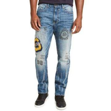 Sean John Men's Slim-Fit Straight Stretch Varsity Pledge Jeans