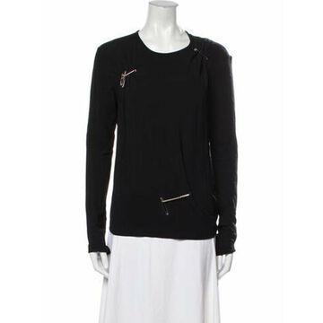Crew Neck Long Sleeve Sweatshirt Black