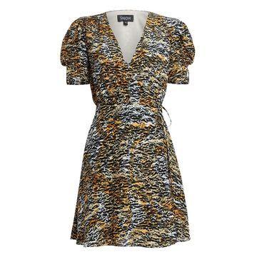 Lea Silk Wrap Tiger Dress