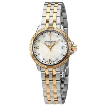 Raymond Weil Tango Mother of Pearl Diamond Dial Ladies Watch 5960-SPS-00995