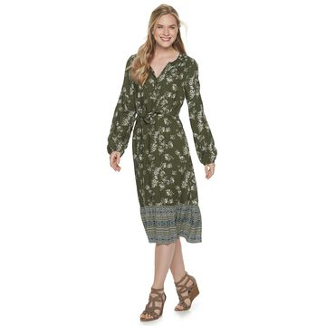 Petite SONOMA Goods for Life Floral Shirt Dress