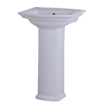 Barclay Washington 33.75-in H White Vitreous China Pedestal Sink