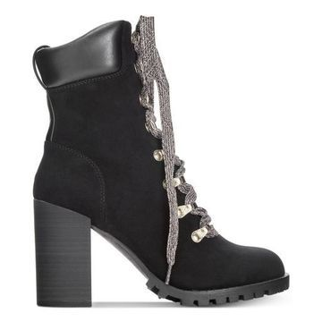 Material Girl Womens Hazil Almond Toe Ankle Fashion Boots
