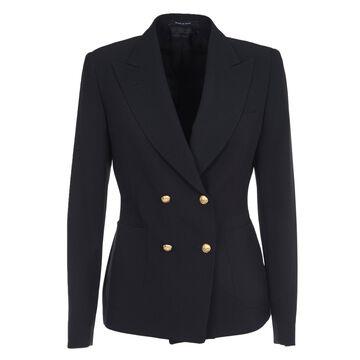 Tagliatore Black Double-breasted Jacket