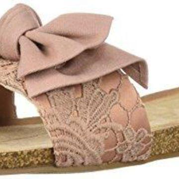 Fergalicious Women's Mallory Flat Sandal Mauve 7 M US