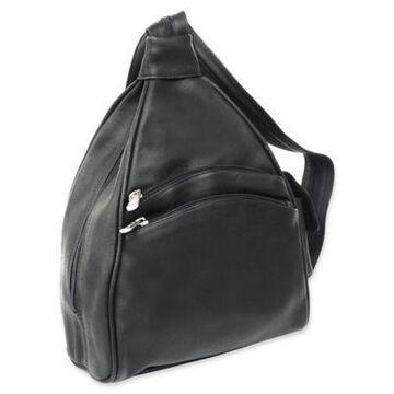 Piel Leather 2-Pocket Sling in Black