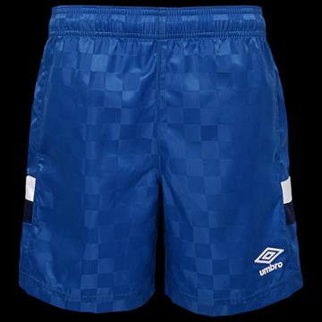 Umbro Tri-Check Shorts - Turkish Sea / White