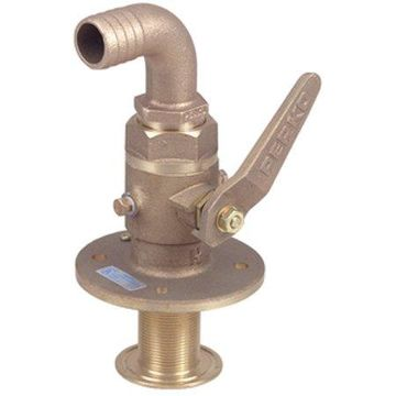 Perko Cast Bronze Seacock with Straight Hose Adapter