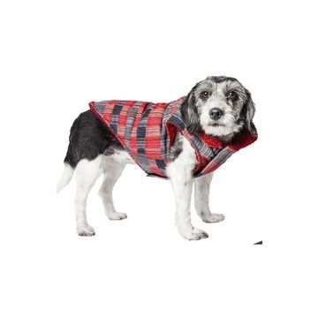 Pet Life 'Scotty' Tartan Classical Plaided Insulated Dog Coat Jacket