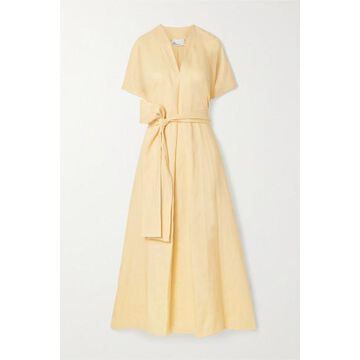 Lisa Marie Fernandez - Rosetta Belted Linen Maxi Dress - Cream