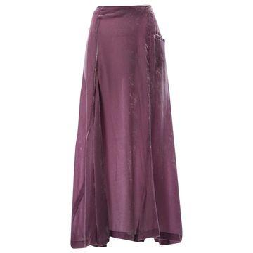 Yohji Yamamoto Purple Velvet Skirts