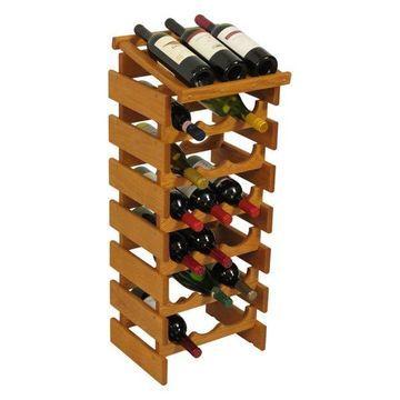 Wooden Mallet 21-Bottle Dakota Wine Rack With Display Top