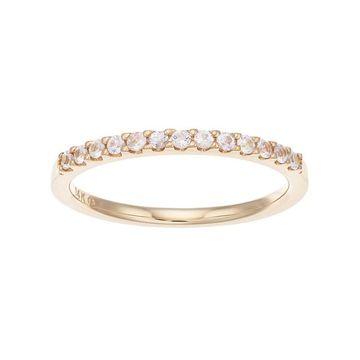 Boston Bay Diamonds 14k Gold White Sapphire Stack Ring
