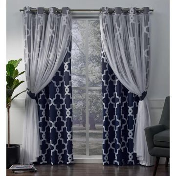 ATI Home Alegra Thermal Woven Blackout Grommet Top Curtain Panel Pair