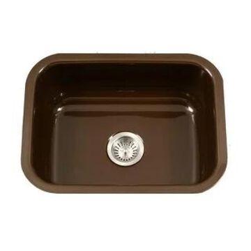 "Houzer PCS-2500 Porcela 22-3/4"" Single Basin Undermount Porcelain"