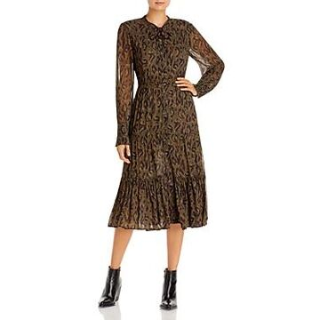 Derek Lam 10 Crosby Sammy Printed Midi Dress