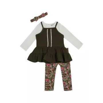 Rare Editions Girls' Girls 7-16 Tunic With Rib Knit Top And Leggings Set - -