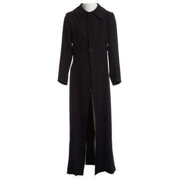 Yohji Yamamoto Black Wool Coats