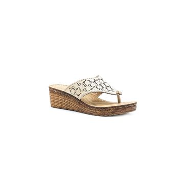 GC Shoes Womens Noleen Wedge Sandals