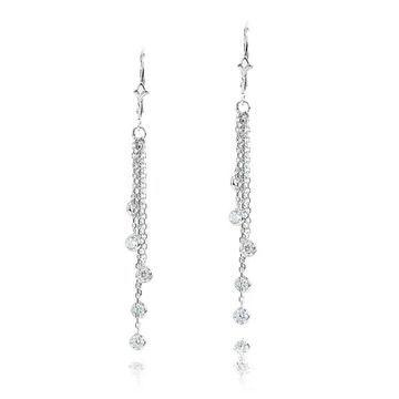 Luxurman 14k Gold 1ct TDW Chandelier Earrings