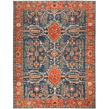 Solo Rugs One-of-a-kind Serapi Hand-knotted Area Rug 9' x 12'