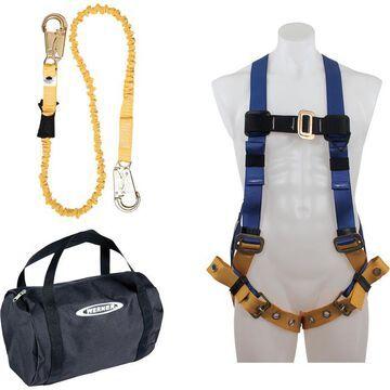 Werner Aerial Safety Kit - Medium/Large BaseWear Standard Harness and 6ft. Lanyard, Model K122023