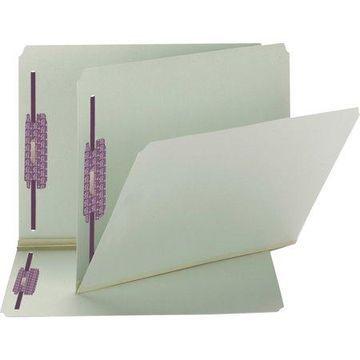 Smead, SMD14910, Straight Cut Tab File Folders, 25 / Box, Gray,Green