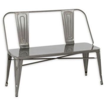 Lumisource Steel Bench in Silver