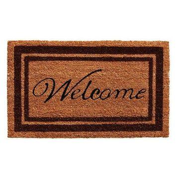 Home & More Bordered Welcome Outdoor Doormat