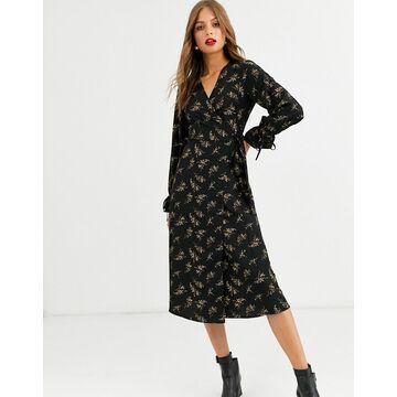 Y.A.S wrap dress-Black