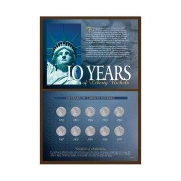 American Coin Treasures 10-Years of Liberty Nickels