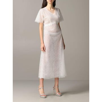 Ermanno Scervino Dress Ermanno Scervino Lace Dress With Rhinestones