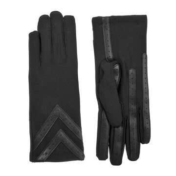 Women's isotoner Lined Water Repellent Heritage Chevron Spandex Gloves
