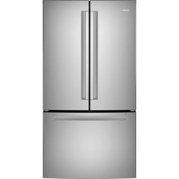 Haier 27-cu ft French Door Refrigerator with Ice Maker (Stainless Steel) ENERGY STAR