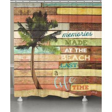 Laural Home Beach Memories Shower Curtain Bedding
