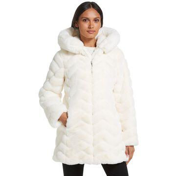 Women's Gallery Hooded Faux-Fur Jacket