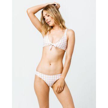 Grid Cheeky Bikini Bottoms