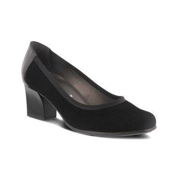 Spring Step Women's Pumps BLACK - Black Noor Suede Pump - Women