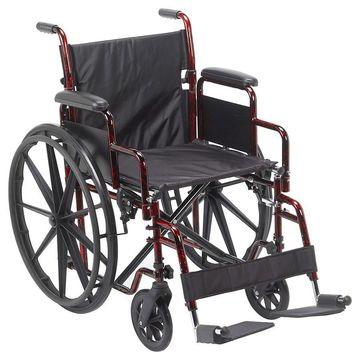 Drive Medical Rebel Lightweight Wheelchair 18 Inch Red