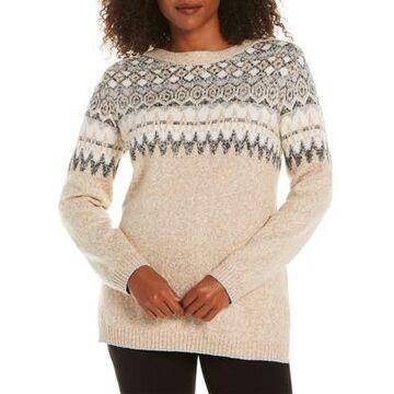 Rafaella Women's Petite Fair Isle Tunic Sweater - -