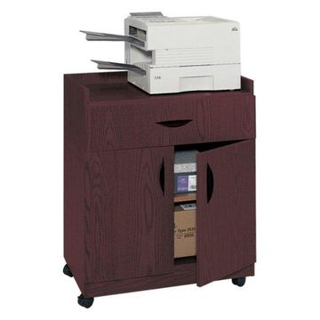 Safco Deluxe Mobile Stand in Mahogany