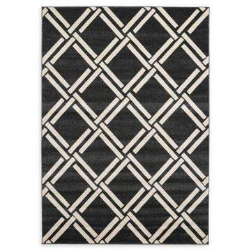 Unique Loom Trellis 7' x 10' Area Rug in Black