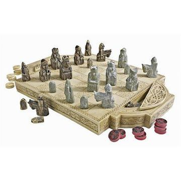 Design Toscano Isle of Lewis Chess Set and Board