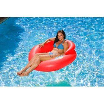 Poolmaster Red Water-Pop Mesh Bottom Lounge