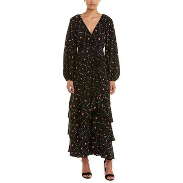 Figue Womens Frederica Silk Wrap Dress