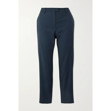 Altuzarra - Henri Embroidered Woven Skinny Pants - Navy